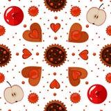Piekarni ciastek i cukierków Bezszwowy wzór Obraz Royalty Free