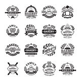 Piekarni odznaka i logo ikona ilustracja wektor