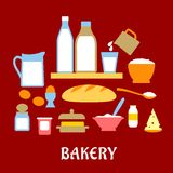 Piekarni pojęcie z ciasto składnikami Zdjęcie Royalty Free