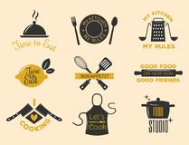 Piekarni sklepowe odznaki i kucharstwo etykietki royalty ilustracja