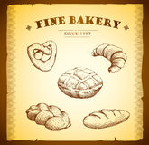 Piekarnia. bochenek, baguette, piec towary, croissant, cu Obraz Royalty Free