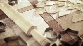 Piekarnia suwaka tło: mąka, Toczna szpilka, ciasto zbiory wideo