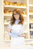 Piekarnia właściciela kobieta Zdjęcia Stock