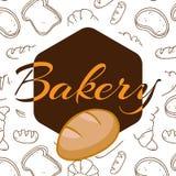 Piekarnia wieloboka loga tła Biały wektor Zdjęcie Royalty Free