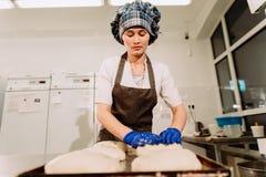 Piekarniany narządzania ciasto dla chleba Zdjęcie Royalty Free