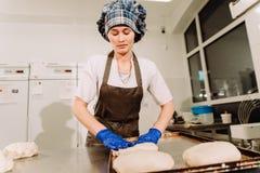 Piekarniany narządzania ciasto dla chleba Obrazy Royalty Free