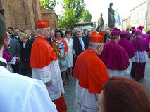 PIEKARY SL, POLAND - MAY 31: Cardinal Gerhard Muller, prefect of Stock Photography