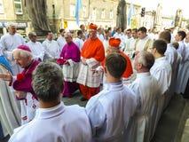 PIEKARY SL, POLEN - MAJ 31: Kardinal Gerhard Muller, prefekt av Royaltyfri Bild