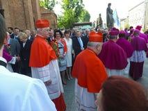 PIEKARY SL, POLEN - MAJ 31: Kardinal Gerhard Muller, prefekt av Arkivbild