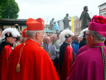 PIEKARY SL, POLEN - MAJ 25: pilgrimsfärd för män Royaltyfria Bilder