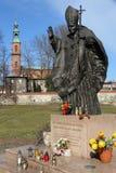 Pope John Paul II. PIEKARY SLASKIE, POLAND - MARCH 9, 2015: Pope John Paul II sculpture in Mount Calvary Park of Piekary Slaskie town, Poland Stock Photography