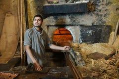 Piekarz przy pracą Obrazy Royalty Free