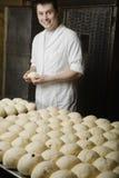 Piekarz Z piłkami Przygotowywać Piec Chlebowy ciasto Obraz Royalty Free