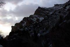 Pieken langs de sleep van de rotscanion in Provo, Utah royalty-vrije stock afbeeldingen
