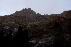 Pieken langs de sleep van de rotscanion in Provo, Utah royalty-vrije stock fotografie