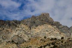 Pieken langs de sleep van de rotscanion in Provo, Utah royalty-vrije stock foto
