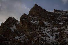 Pieken langs de sleep van de rotscanion in Provo, Utah royalty-vrije stock foto's