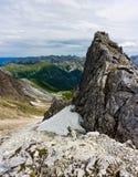 Pieken van de bergen in de zomer Royalty-vrije Stock Foto