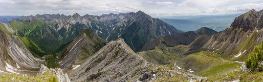 Pieken van de bergen in de zomer Stock Foto