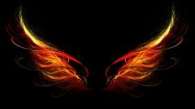 piekieł skrzydła ilustracja wektor