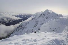 Pieksteenpijler in Rosa Khutor Alpine Resort Royalty-vrije Stock Fotografie