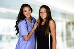Pielęgniarka i pacjent fotografia royalty free