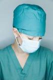 Pielęgniarka patrzeje w dół Zdjęcie Stock