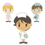 Pielęgniarka, postać z kreskówki, wektorowa ilustracja ilustracja wektor