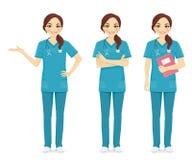 Pielęgniarka set royalty ilustracja