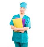 Pielęgniarka. student medycyny w jej 20s Obraz Stock