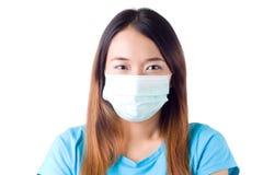 Pielęgniarka z maską fotografia royalty free