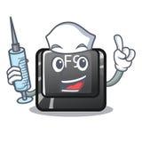 Pielęgniarki F9 guzik instalujący na kreskówki klawiaturze ilustracji