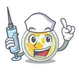 Pielęgniarki naengmyeon słuzyć w kreskówka pucharze ilustracja wektor