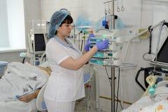 Pielęgniarki oddział intensywnej opieki fotografia royalty free