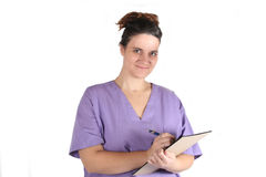 pielęgniarki potomstwom robić notatki obraz stock