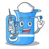 Pielęgniarki tuba odizolowywający z charakterem w ilustracja wektor