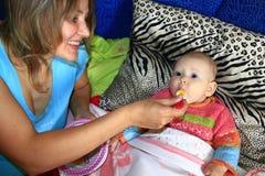 Pielęgnować mały dziecko Zdjęcie Royalty Free