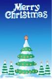 Piel-árbol de la Navidad Foto de archivo