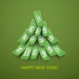 Piel-árbol de la Navidad. Imagen de archivo libre de regalías