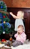 Piel-árbol de la Navidad Imagen de archivo libre de regalías
