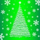 Piel-árbol de la Navidad del vector. Imagen de archivo
