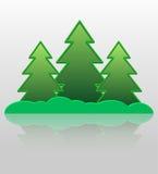 Piel-árboles abstractos. Imagen de archivo