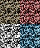 Piel abstracta de la cebra stock de ilustración