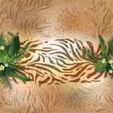 Piel animal y hojas libre illustration
