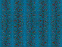 Piel azul del pitón Foto de archivo libre de regalías