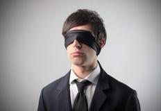 Piel de ante de Blindman Imagen de archivo libre de regalías