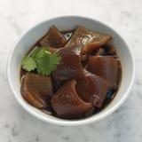 Piel de cerdo cocida en salsa de soja Imagen de archivo