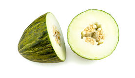 Piel de sapo melon, santa claus melon isolated Royalty Free Stock Images