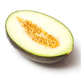 Piel de sapo or Santa Claus Melon Half Stock Photos