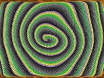 Piel escamosa de la serpiente espiral stock de ilustración
